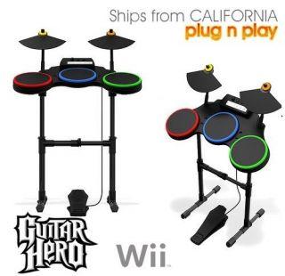 Wii Band Hero / Guitar Hero World Tour DRUM SET *MINT*