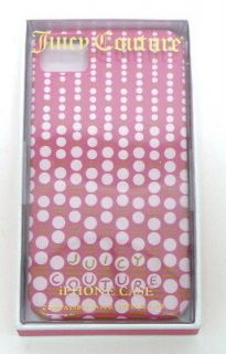 NIB JUICY COUTURE iPHONE 4/4S Hard Case PINK DOT Cascading Dot