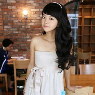 Innovation wig sweet girl oblique bangs long curls, Afro micro curls
