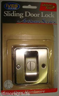 IVES SCHLAGE Sliding Door Lock Satin Nickel