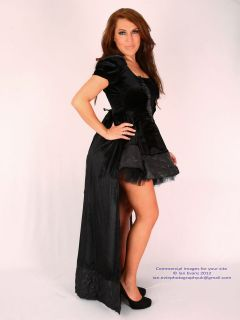 Sexy Black Ice Queen Witch Halloween Womans Fancy Dress Costume Outfit