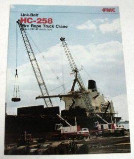 Link Belt 1978 HC 258 Truck Crane Sales Brochure
