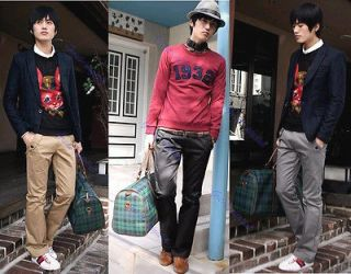 New Fashion Mens Stylish Designed Straight Slim Fit Trousers Casual