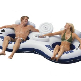 Intex River Run II 2 Person Float Tube w/ Drink Cooler