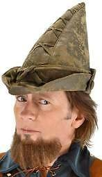 Robin Hood Hat Moss Green Peter Pan Alpine Elf Costume Fancy Dress Cap