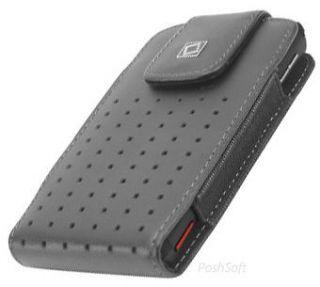 Leather VERTICAL Case Pouch Holder for MOTOROLA Phones. Black+Holster