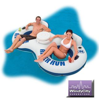 Intex River Run II 2 Person Water Tube River Lake Pool Float with