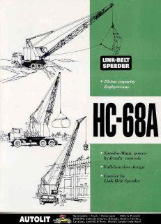 1964 Link Belt Speeder HC68 Zephyr Truck Crane Brochure