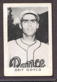 1949 Toleteros: Gely Goyco Type Card