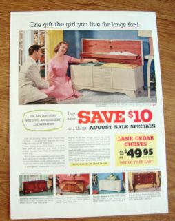 1953 Lane Cedar Hope Chests Ad