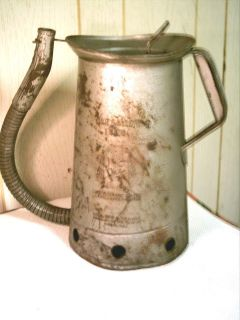 Vintage HUFFMAN OIL CAN Dispenser 1 GALLON Flexible Spout LEVER