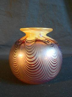 antique blown glass vase