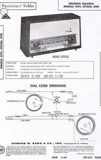 Manual Photofact for GRUNDIG MAJESTIC 3192 3192US 3198 Receiver