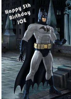 Personalised Batman Birthday Card Son Nephew Grandson