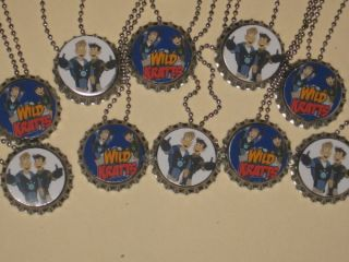 wild kratts inspired party favors lot of 20 bottle cap ball chain