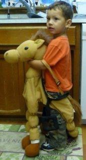 HALLOWEEN COSTUME Child Size HORSE COWBOY Pony 100% Polyester Stirrups