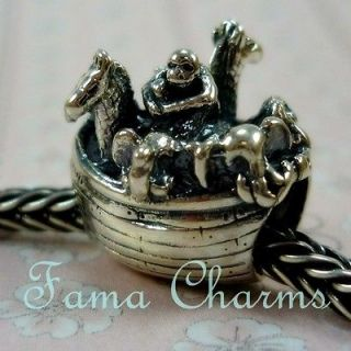 STERLING SILVER AUTHENTIC 925 BEAD NOAHS ARK FITS EUROPEAN CHARM