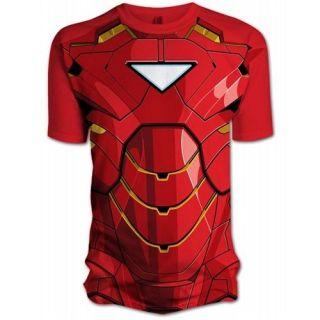 Marvel Mens Iron Man 2 Comic Chest T Shirt