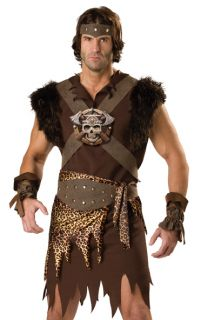 Barbarian Warrior Man Thor Adult Fancy Dress Halloween Costume
