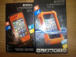 NEW Lifeproof iPhone 4/4S Case Orange New In Box plus Life Proof case