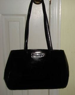 MAX MARA black Satchel Purse Hand Shoulder Bag roomy lg