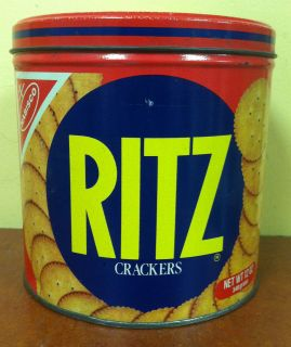Vintage 1982 Ritz Cracker Metal Cracker Keeper Tin