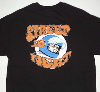 Street Is Neat Pocket T Shirt Black L Racing Motorcycle Biker