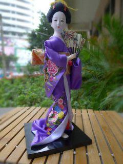 Newly listed 11 Vintage Japanese Doll Kimono Silk Brodade Geisha Doll