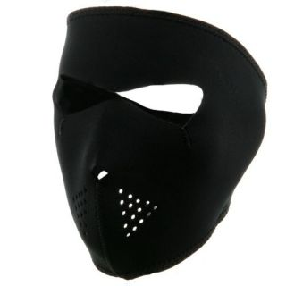 Ninja Black Motorcycle Biker, Ski Mobile Neoprene Face Mask   Paint