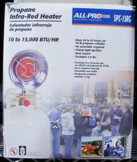 ALL PRO PORTABLE PROPANE OUTDOOR INFRA RED HEATER MDLSPC15RG