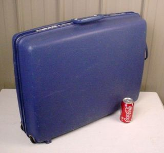 Large Vintage Samsonite Concorde Blue Hard Side Suitcase Luggage