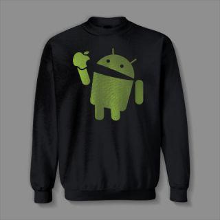 Android eats Apple droid FUNNY phone nerd 4 5 computer geek Sweatshirt