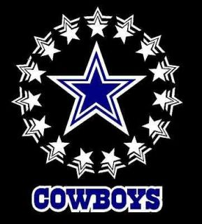 DALLAS COWBOYS CIRCLE OF STARS COWBOYS ACCENT VINYL DECAL STICKER