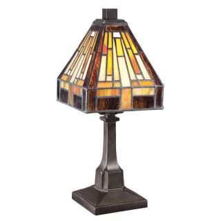 Quoizel TF1018TVB Vintage Bronze Tiffany / Stained Glass 1 Light Table