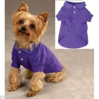 SMALL DOG SHIRT poodle papillon min pin DOG POLO SHIRT ZACK & ZOEY