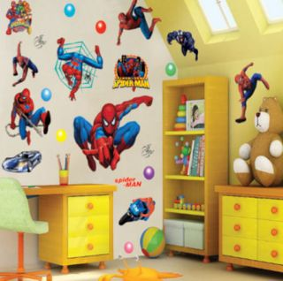 Kids Spider Man Nursery Wall Sticker Decals art Paper