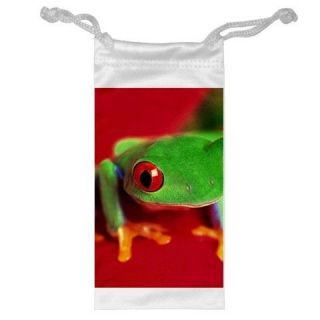 Red Eyed Tree Frog Jewelry Bag Cellphone Money Gift
