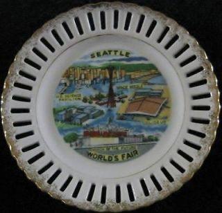 Seattle Worlds Fair Souvenir Collector Plate 6 VGC