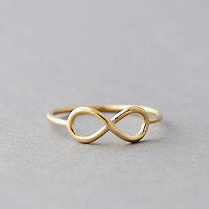 INFINITY RING GOLD INFINITY SYMBOL RING GOLD INFINITY KNOT RING