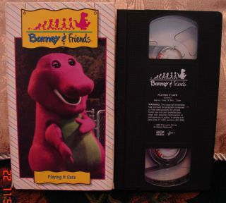 BARNEY & FRIENDS Time Life PLAYING IT SAFE VHS V.1 RARE Mint Condition