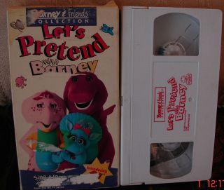 Lets Pretend With Barney & Friends Collection Introducing BJ VHS Sing