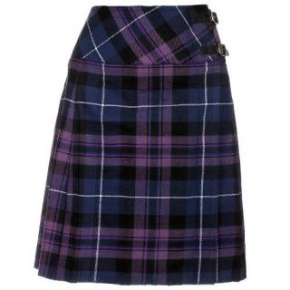 Knee Length Pride Of Scotland Kilt Skirt 20 Length Tartan Pleated