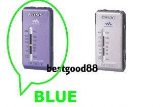 Sony SRF S84 FM STEREO/AM RADIO WALKMAN (BLUE)