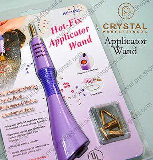 Tips Purple Hot fix Rhinestone Heater iron on Applicator wand tool