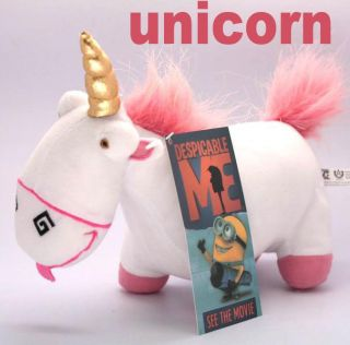 Despicable Me plush toy unicorn New with tag Pink stuffed SO FLUFFY