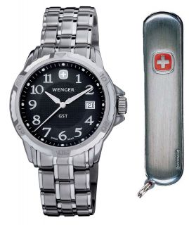 Wenger 68236 Gift Set 78236 GST Swiss Watch and 16668 Esquire Swiss
