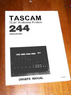 TASCAM PORTASTUDIO 244    OWNERS MANUAL ~ booklet