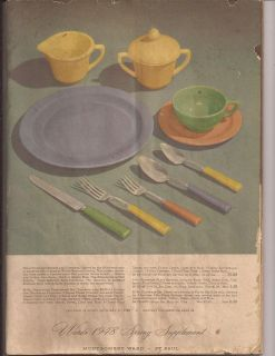 Vintage 1948 MONTGOMERY WARD SPRING SUPPLEMENT Catalog ; St.Paul 95
