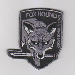 METAL GEAR SOLID MGS FOX HOUND SPECIAL FORCE GROUP Velcro Patch ACU
