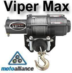 VIPER Max 4000lb ATV Winch & Custom Mount for Kawasaki Mule 600/610